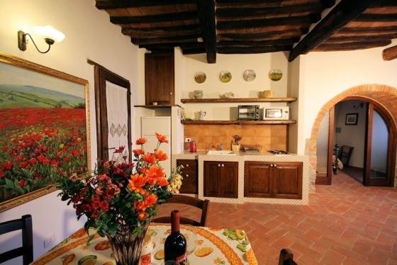 Appartement 2 (2 tot 3 pers.), een van onze vakantiehuizen in Toscane