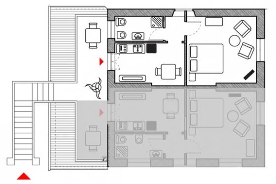 Appartement 4-MAE (2-3 pers.), een van onze vakantiehuizen in Toscane