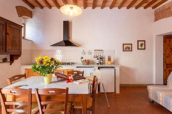 1 slaapkamer+divanbed 4 personen, een van onze vakantiehuizen in Toscane