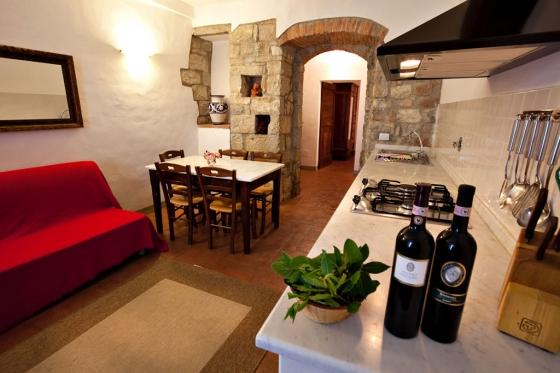 2 slaapkamers + divanbed 6 personen, een van onze vakantiehuizen in Toscane